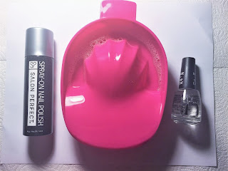 spray paint nails tutorial supplies