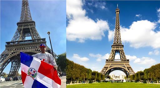Bloguero dominicano radicado en NY intenta ondear la bandera dom en la torre Eiffel