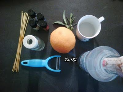 Deodorante per ambienti con buccia di arancia