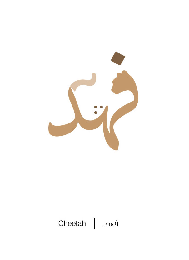 Arabic Words Illustrated Based On Their Literal Meaning - Cheetah - Fahd