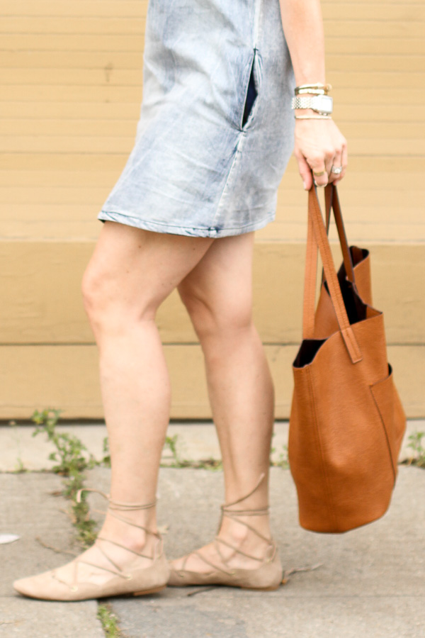 tan suede lace up pointy toe flats