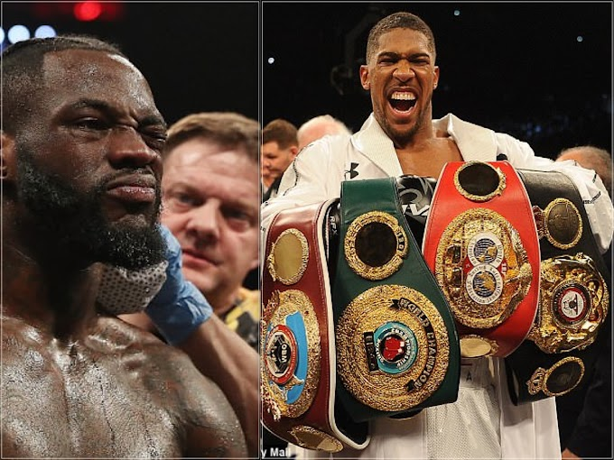 Anthony Joshua is set to defend his IBF, WBO, IBO and WBA belts against Povetkin as Deontay Wilder claiming 50-50 split
