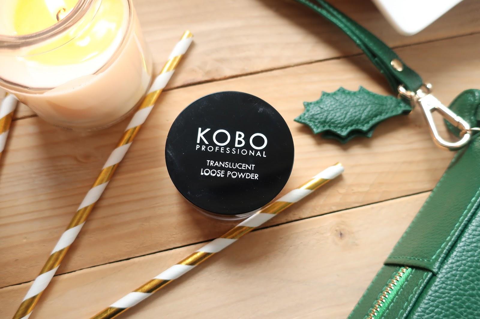 sypki puder transparentny Kobo Professional Translucent Loose Powder