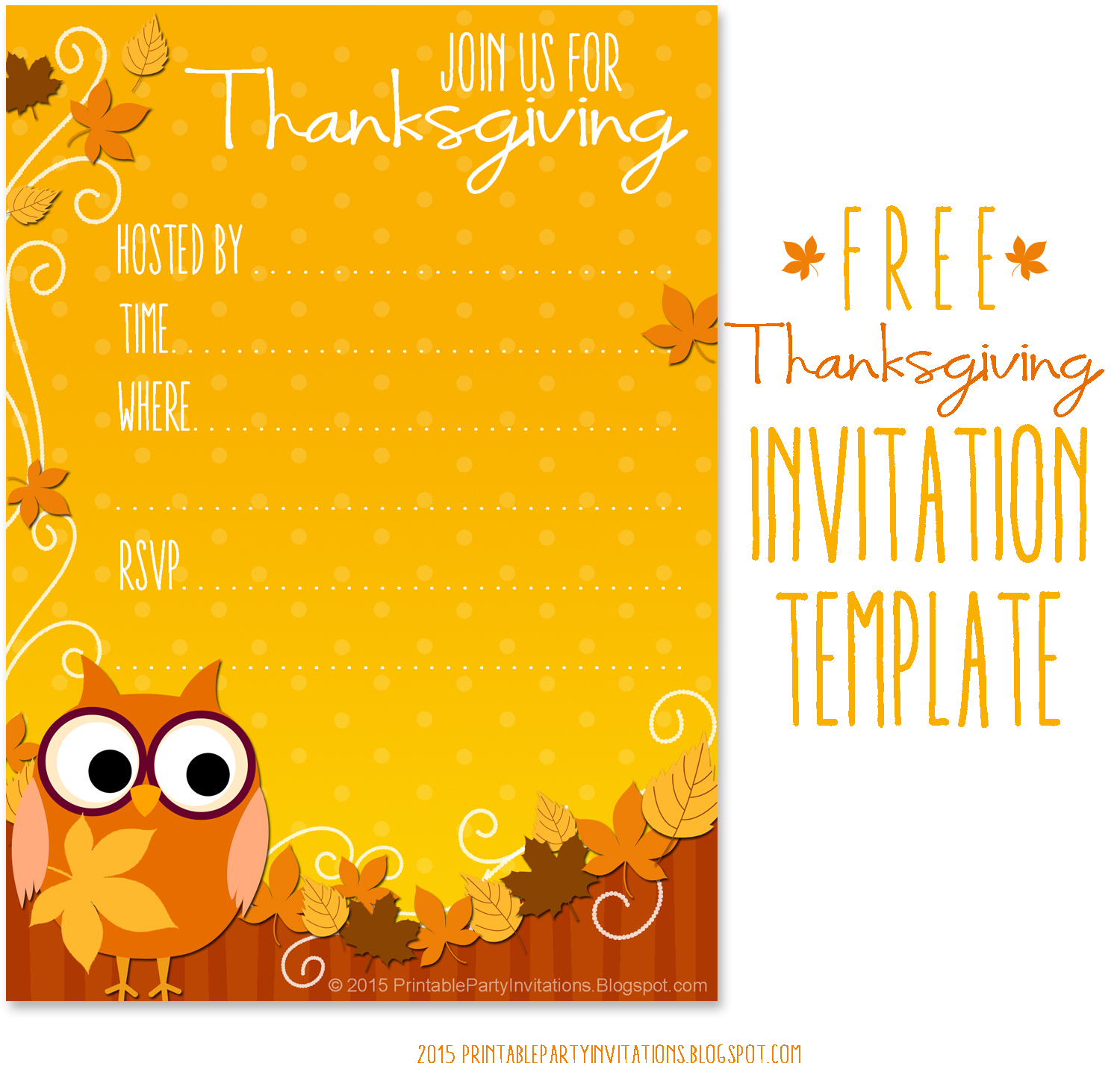 image regarding Printable Thanksgiving Invitations named Cant discover subsution for tag [posting.overall body]--\u003e Thanksgiving