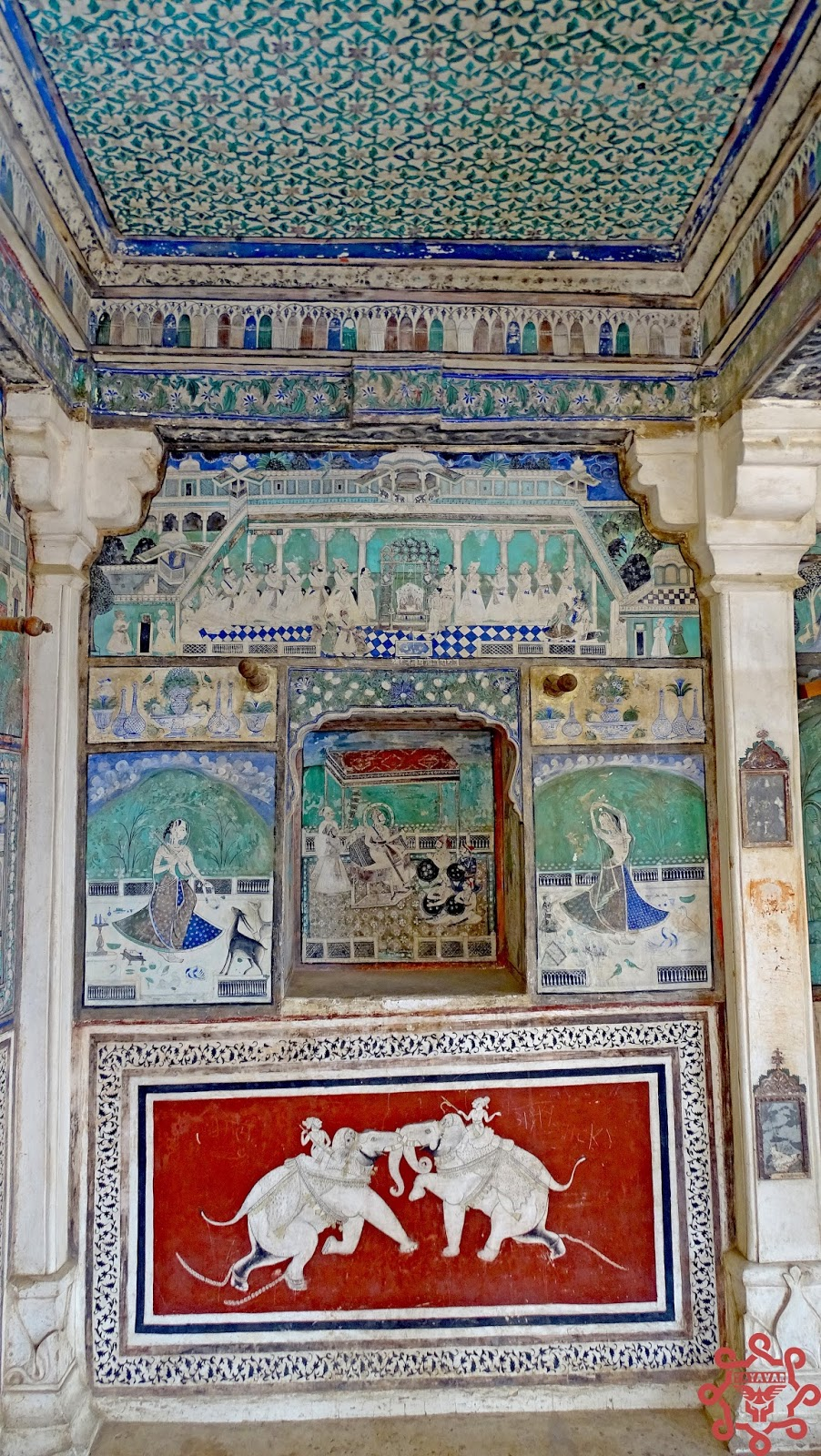 Murals On Garh Palace Bundi