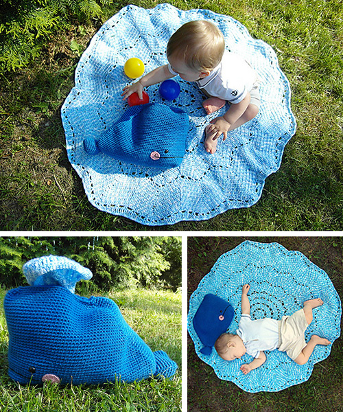 Willy the Whale and the Splish - Splash Blanket - Free Pattern