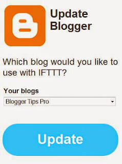 Tie your Blogger Blog to IFTTT