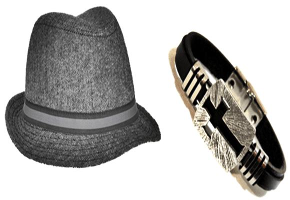 Opções-chapéu-pulseira