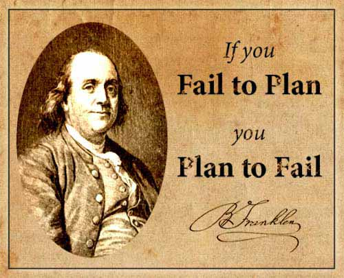 Quote plan to fail and fail to plan