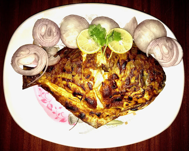 Tandoori Recipe - How to make Tandoori Pomfret | Grilled Pomfret