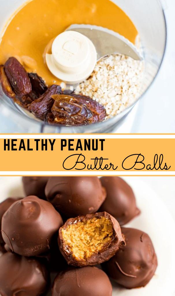 Healthy Peanut Butter Balls #dessert #butter