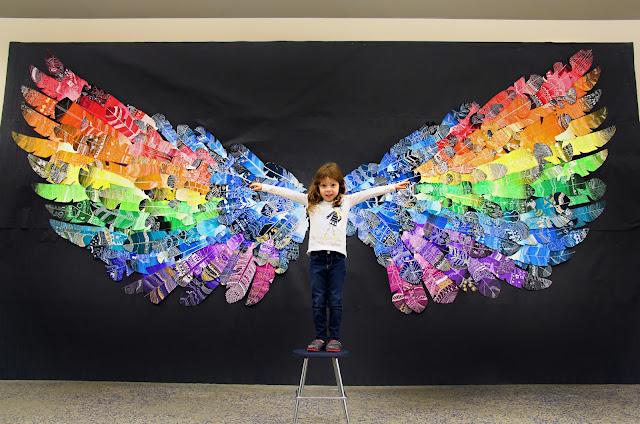 Image result for feather wings mural