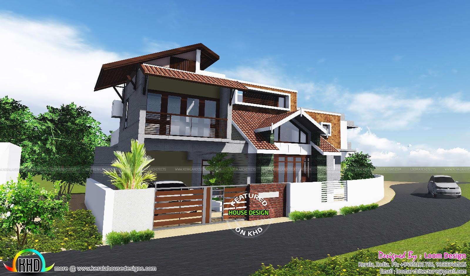 4 bhk 2650 square feet modern home kerala home design for 4 bhk home design