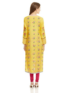 Satin Asymmetrical A-line Knee Length W Kurta by FashionDiya