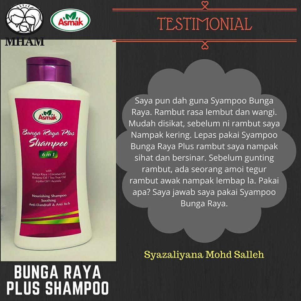 Hari ni kak Fiza nak share Testimoni Shampoo Bunga Raya Plus. Ni antara  produk yang laris keluaran MHAMSB. Baunya yang harum 7aa309ceea