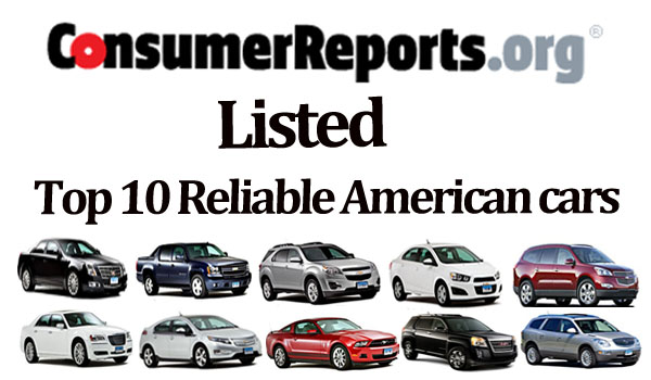 Consumer Reports Listed Top 10 Most Reliable American Cars