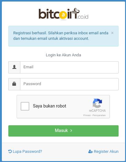 Tutorial Mendaftar Indodax