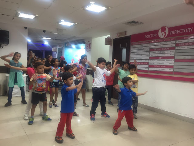 Paras Bliss Hospital, Delhi Organizes Free Zumba Session for School Children