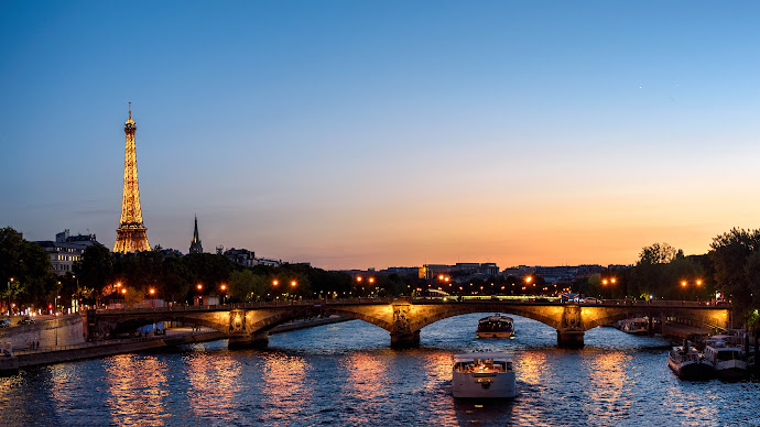 Wallpaper: The Paris at Sunset