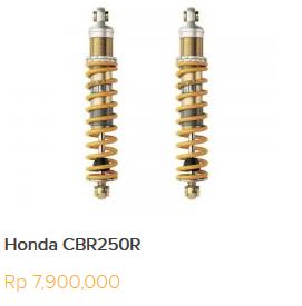 Daftar Harga Shock Ohlins Untuk semua Motor Honda