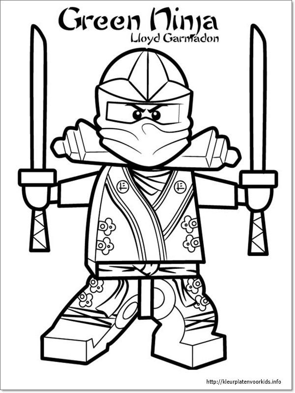 Ninjago Ausmalbild Lloyd - Malvorlagen Gratis