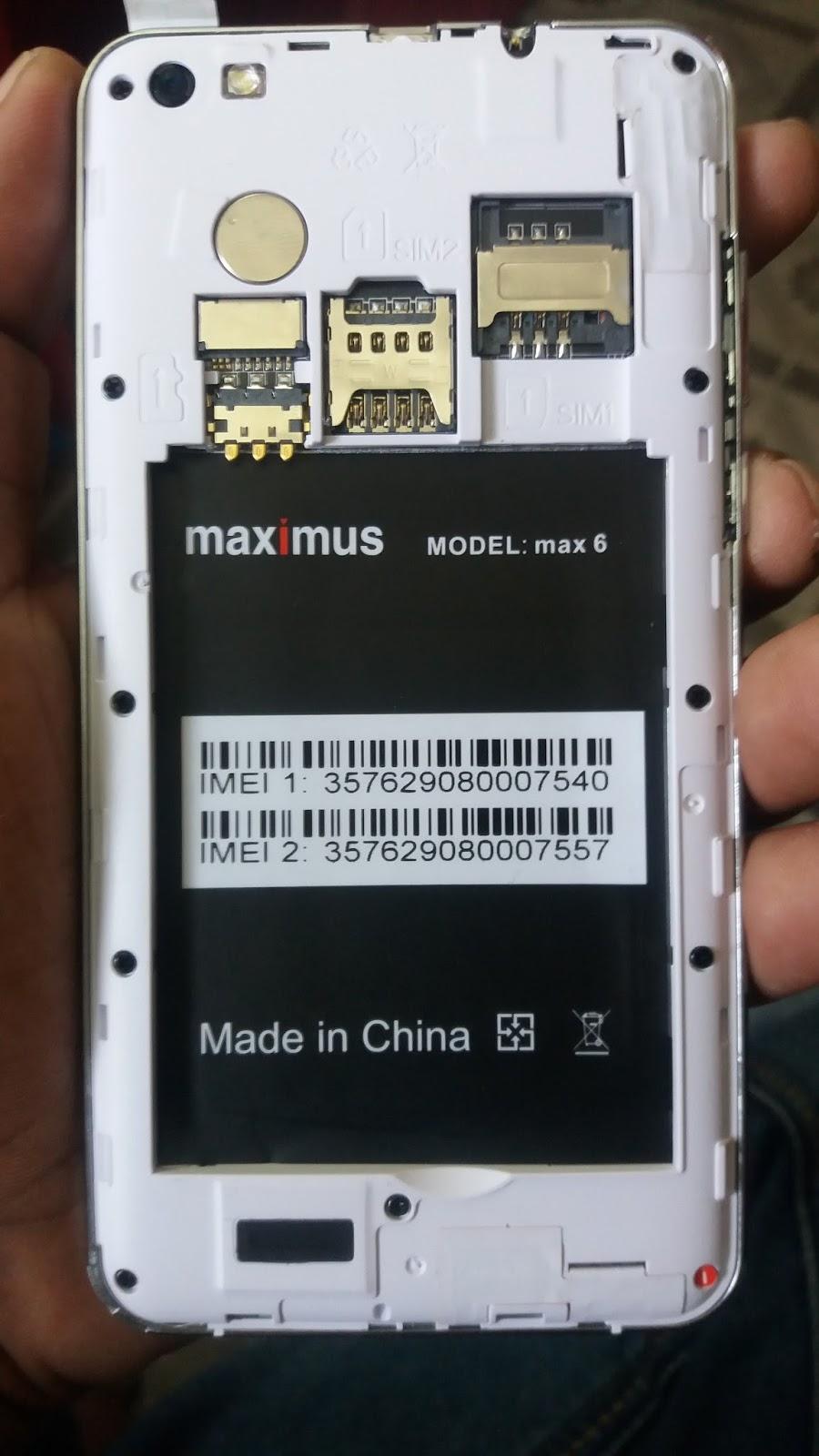 Maximus Max 6 Flash File