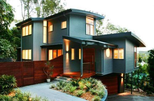 Warna Kombinasi Cat Rumah Minimalis Modern Terbaru 2014