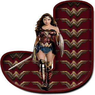 Abecedario Mujer Maravilla con Espada. Wonder Woman with Sword Alphabet.