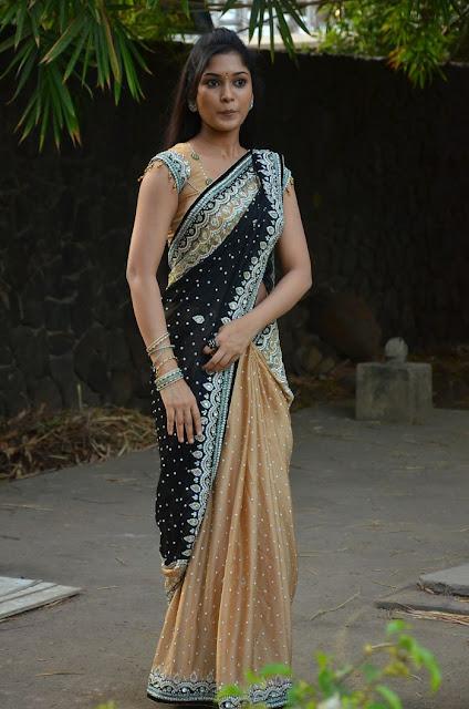 Priyanka in Saree at Saaral Movie Audio Launch