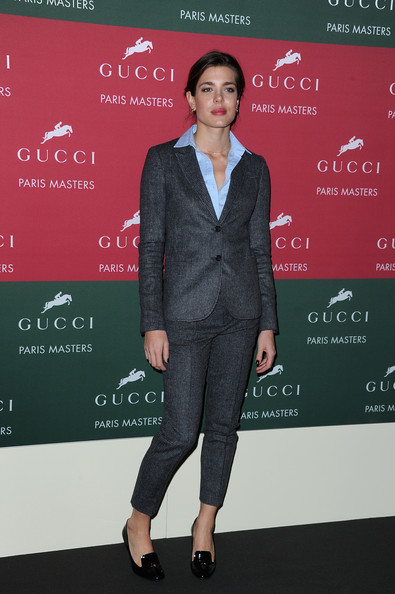 Charlotte Casiraghi attended the awards cerenomy of Gucci Grand Prix at the Gucci Paris Masters