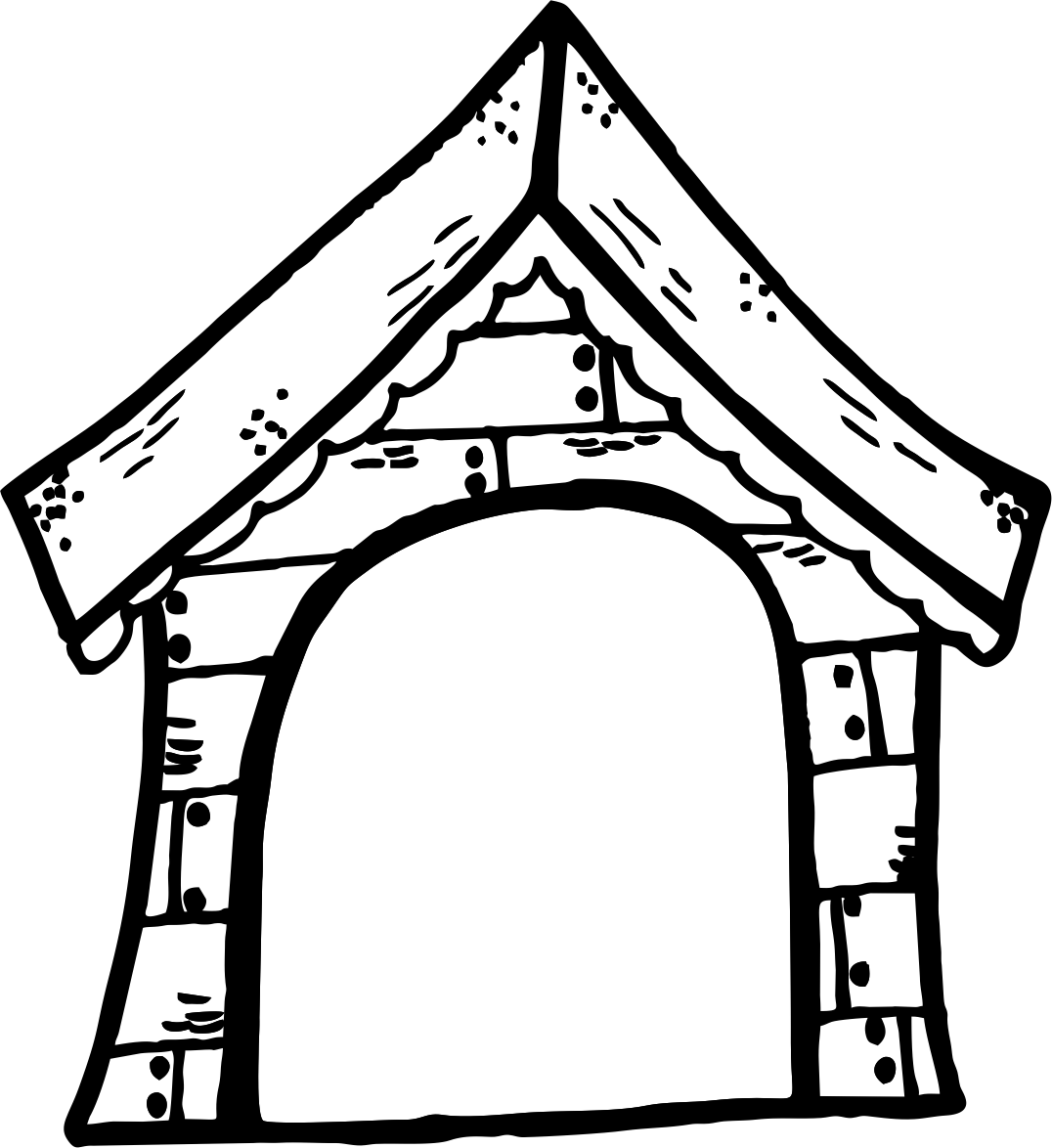 clipart of dog houses - photo #43