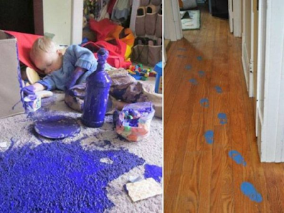 baby footprints in purple paint fail