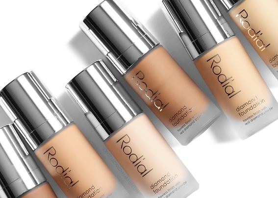Rodial Diamond Foundation Review Photos Swatches All Shades Before After MAC Equivalents