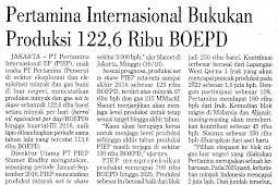 Pertamina International Records Production of 122.6 Thousand BOEPD