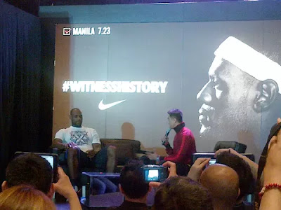 Lebron James Press Conference in Manila