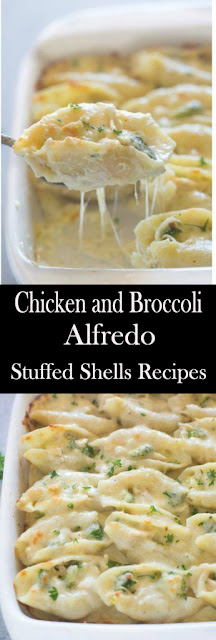 Chicken and Broccoli Alfredo Stuffed Shells Recipes