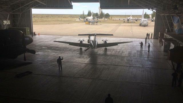 Medios aéreos desplegados en la Base Aeronaval Almirante Zar. Imagen: Armada Argentina