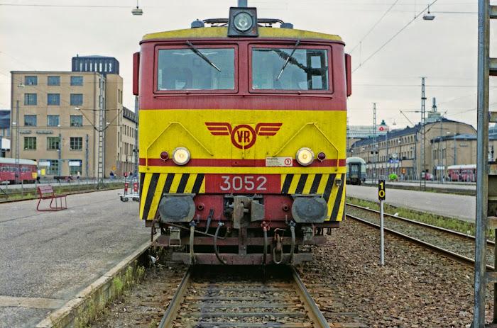 Finlande, Helsinky, locomotive, VR-Yhtymä Oy, © L. Gigout, 1990