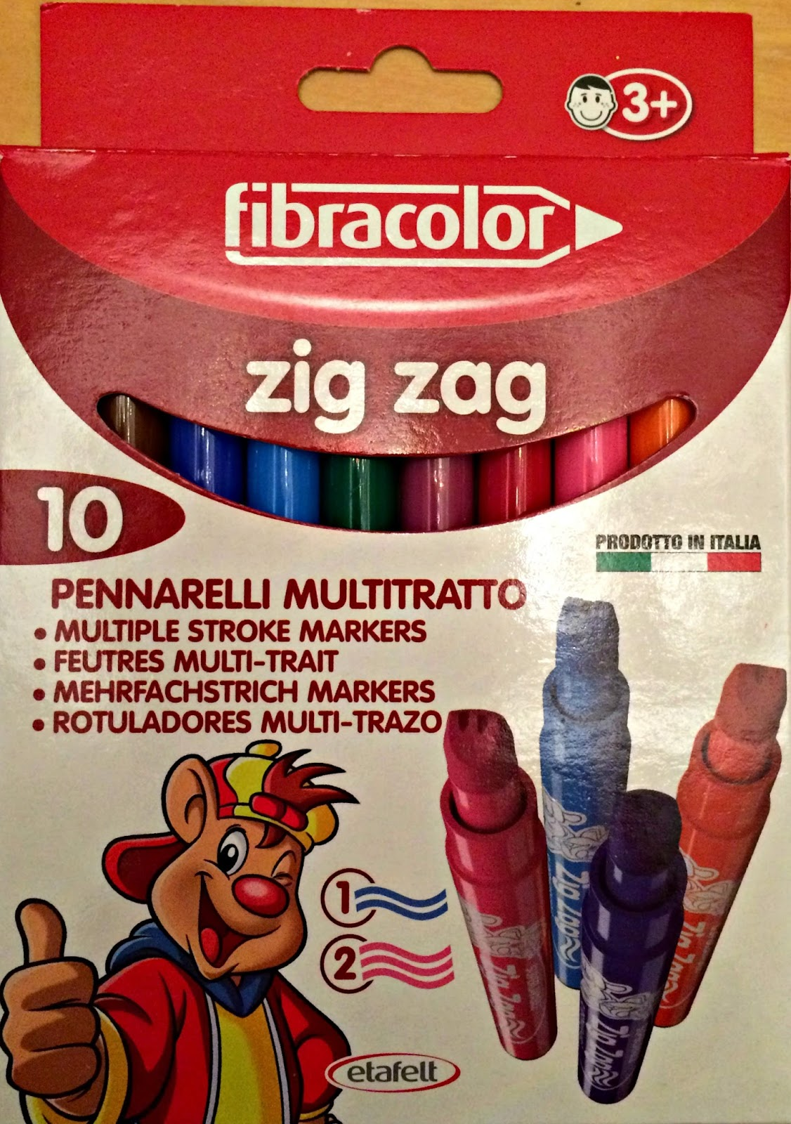 Fibracolor Zig Zag Markers from Idealworld.tv
