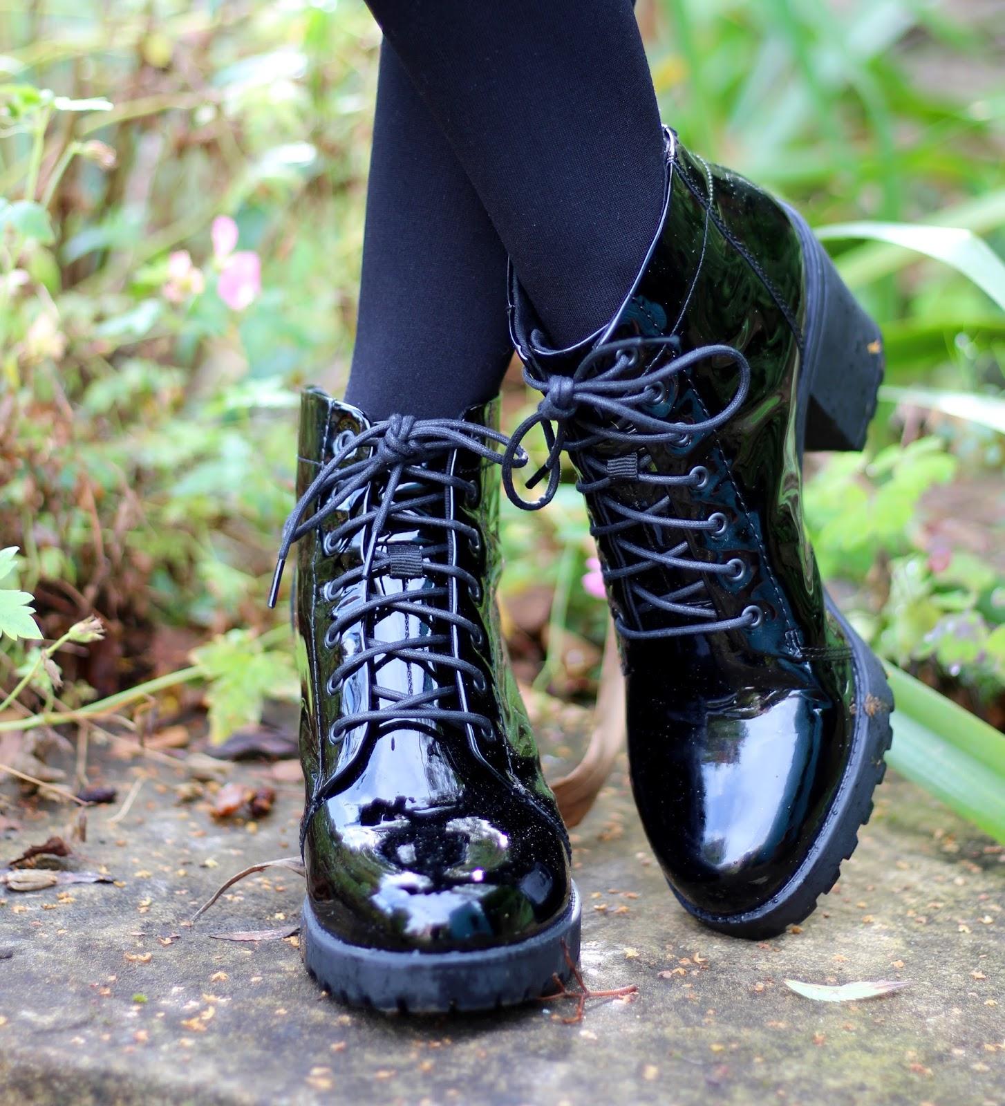 Fake Fabulous | Chunky Patent Vagabond Boots.