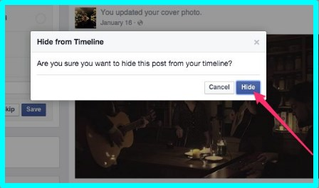how to hide timeline on facebook from friends