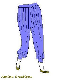 Amina creations harem pants patterns for Harem pants template