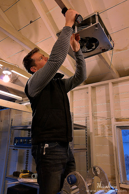 Installation of ceiling garage heater
