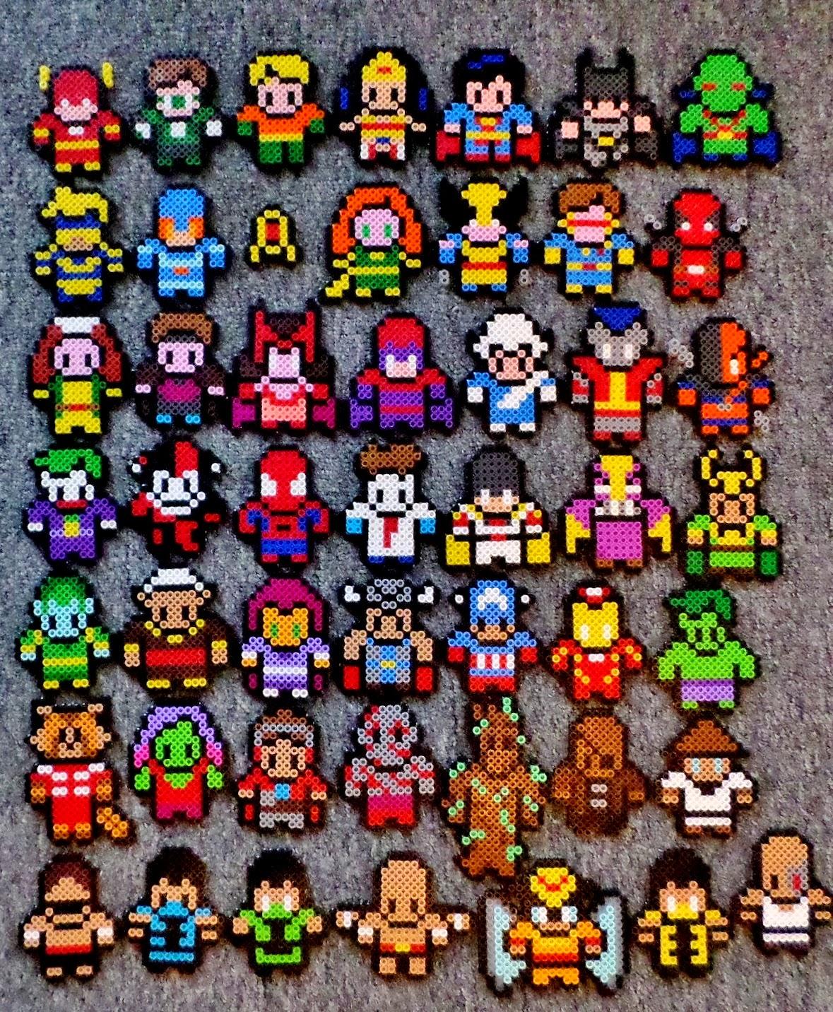 Super Heroes in Perler beads   Perler Bead Patterns ...   Superhero Fuse
