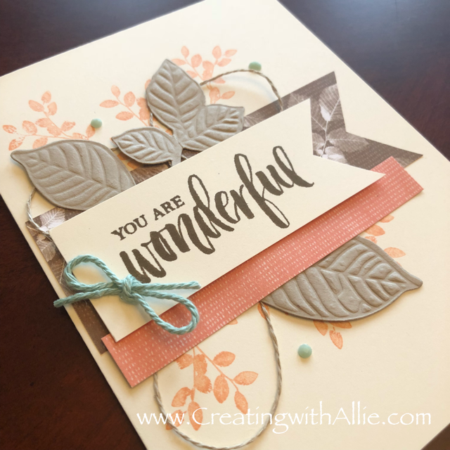 Check out the video tutorial with some AMAZING tips and tricks for using Stampin Up's Nature's Poem Suite!  Youll love how quick and easy this card is to make!  www.creatingwithallie.com #stampinup #alejandragomez #creatingwithallie #videotutorial #cardmaking #papercrafts #handmadegreetingcards #fun #creativity #makeacard #sendacard #stampingisfun #sharewhatyoulove #nature'spoem