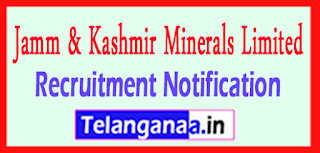 JK Jamm & Kashmir Minerals Limited Recruitment Notification 2017 Last Date 31-05-2017