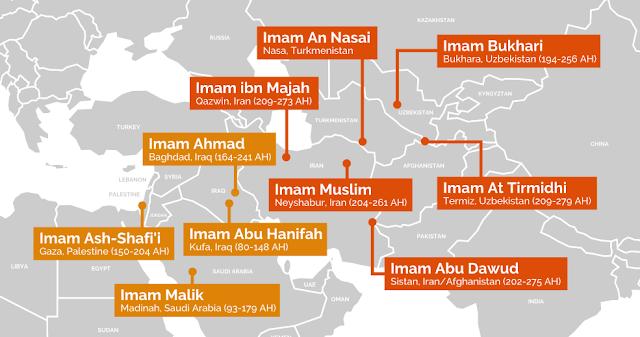Tempat Lahir 4 Imam Fiqih dan 6 Imam Ahli Hadis