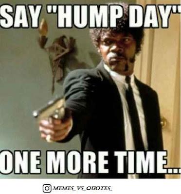 Say hump day again