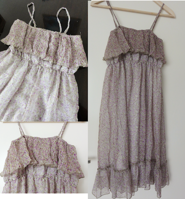 Korean purple flowery dress from Gmarket