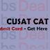 CUSAT CAT Admit Card 2017 – Entrance Exam Hall Ticket/ Exam Date